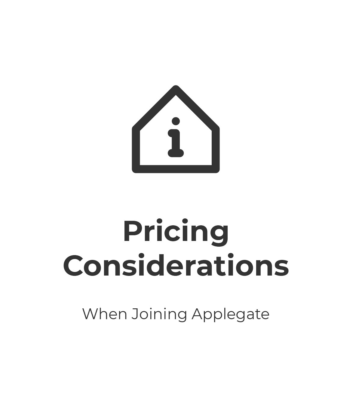 Pricing Considerations White